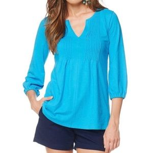 Lilly Pulitzer Braylen Cotton Pleated Tunic